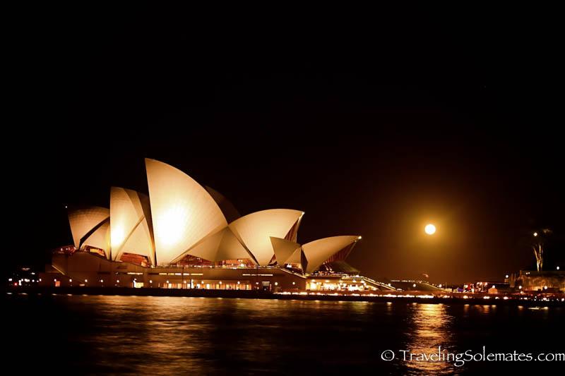 Sydney Opera at Night, Sydney, Australia.