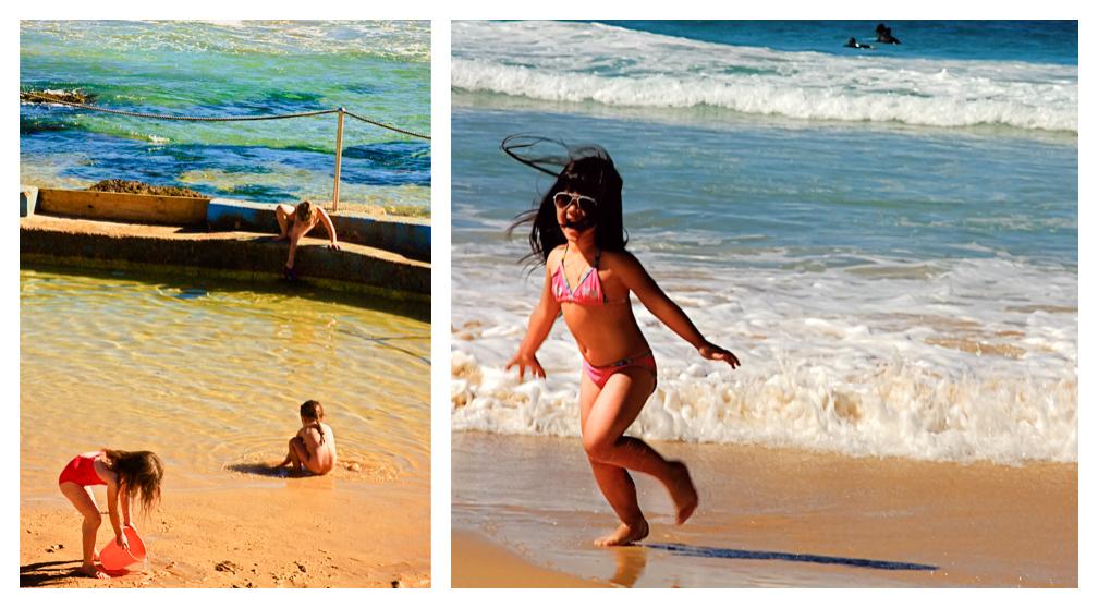 Children on Bondi Beach, Sydney Australia