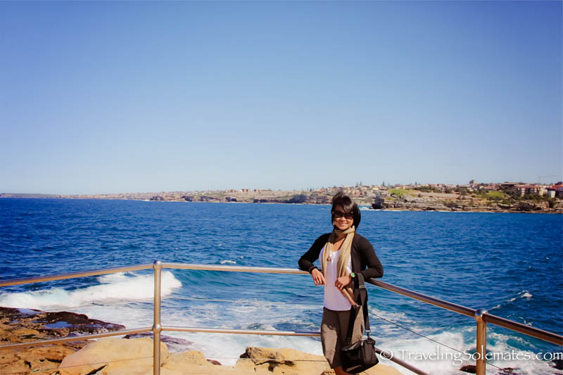 Cliff in Bondi Beach, Sydney, Australia.