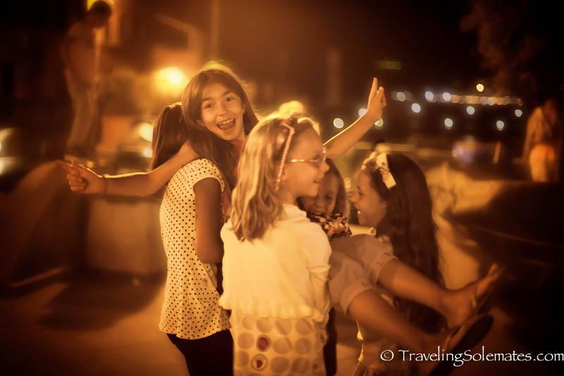 Children in Vernazza, Cinque Terre, Italy