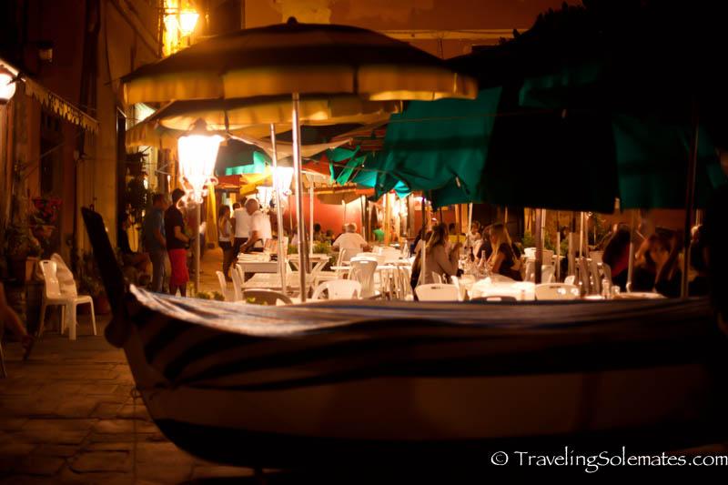 Cafes at Piazza Marconi, Vernazza, Cinque Terre
