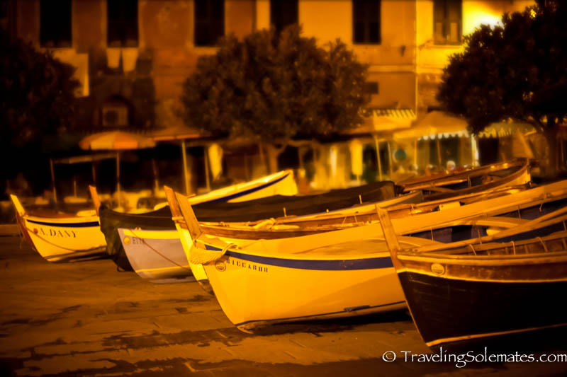 Fishing Boats at night,  Vernazza, Cinque Terre, Italy