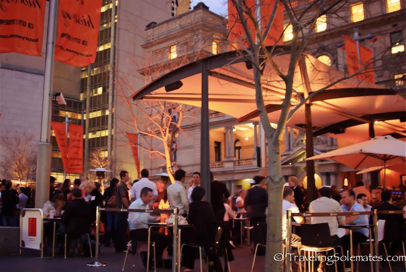 Waterfront bar in Sydney, Australia