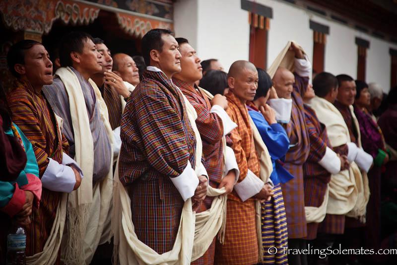 Bhutanese Me in Festival (Tsechu) in Tashichho Dzong, Thimphu, Bhutan.