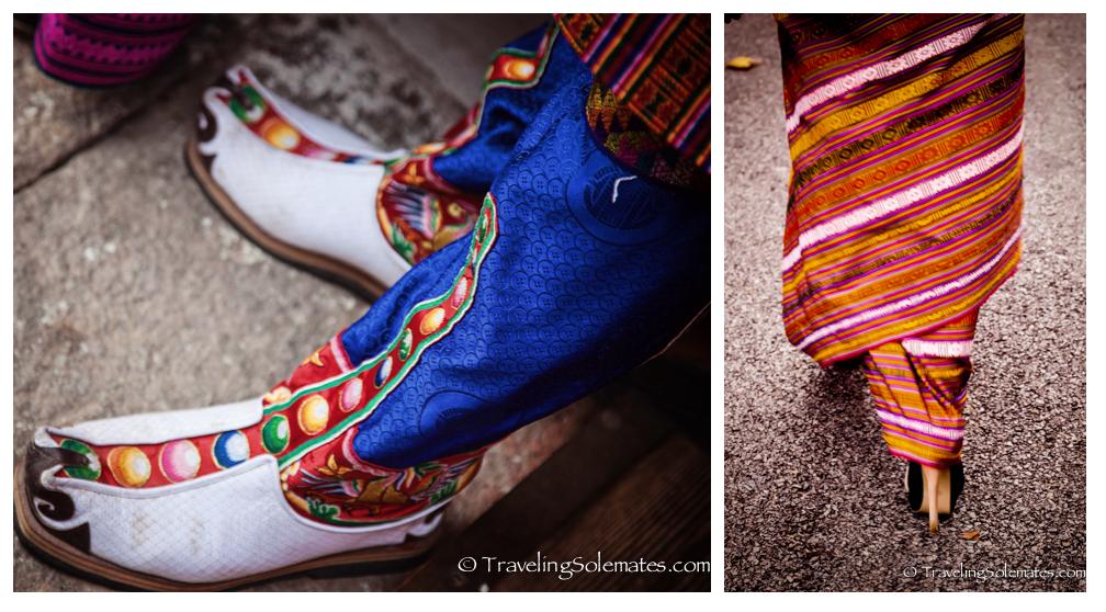 Traditional and Modern Shoes, Thimphu Festival, Bhutan