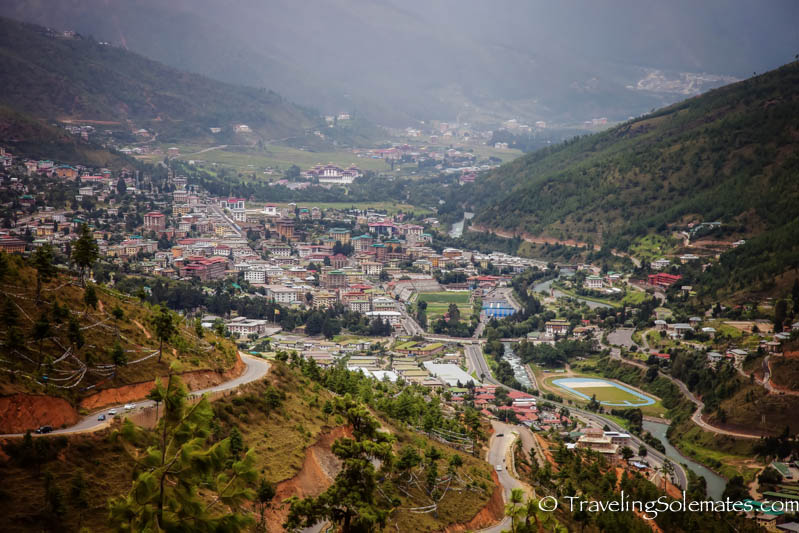 View of Thimphu Valley from Buddha Point, Thimphu, Bhutan