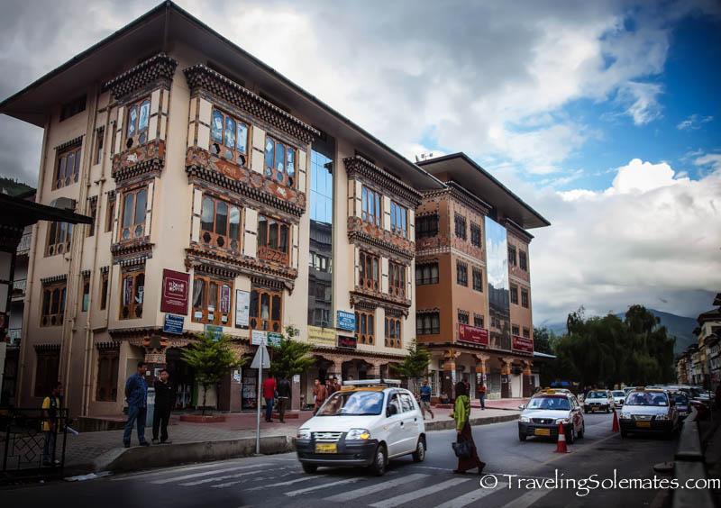 Norzo Lam, Main Street in Thimphu, Bhutan.jp