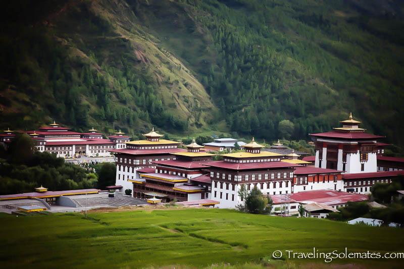 Tashichho Fortress in Thimphu, Bhutan