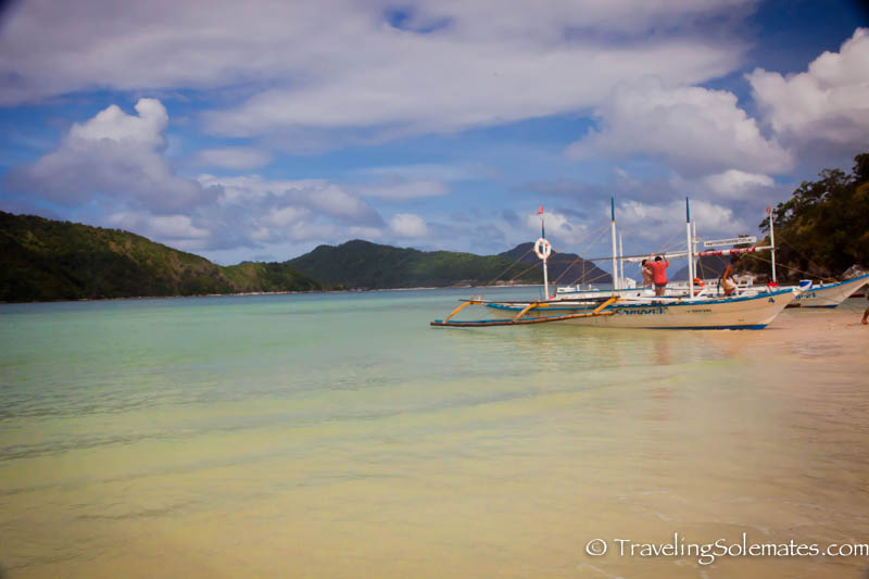 Boat on Snake Island, El Nido, Palawan, Philippines