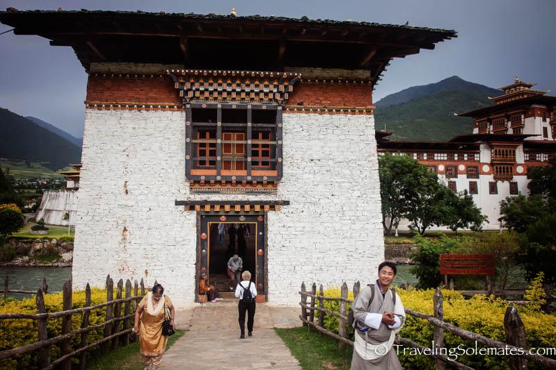 Entrance to Punakha Dzong Bridge, Bhutan