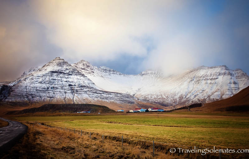 Snowy Mountains in Snaefellsnes Peninsula, Iceland.