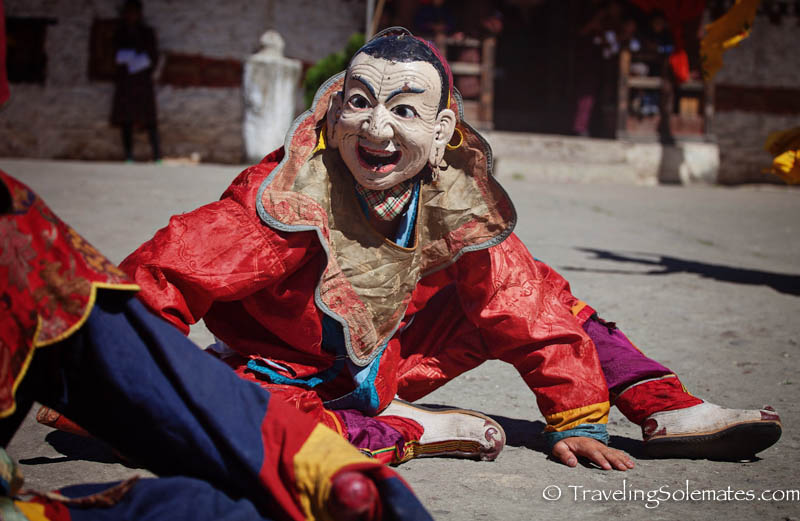 Atsara (Clowns) in Tamshing Phala Chhoepa Festival at Tamshi Lhakhang, Bumthang, Bhutan