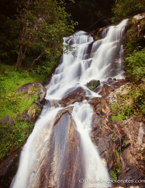 Waterfall on the road to Trongsa, Bhutan