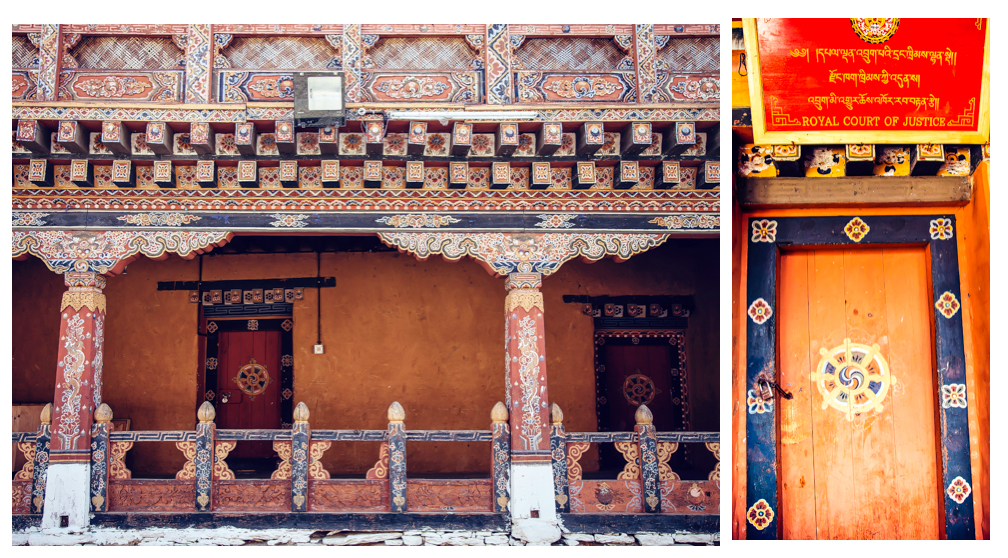 Administrative Section in Trongsa Dzong, Bhutan