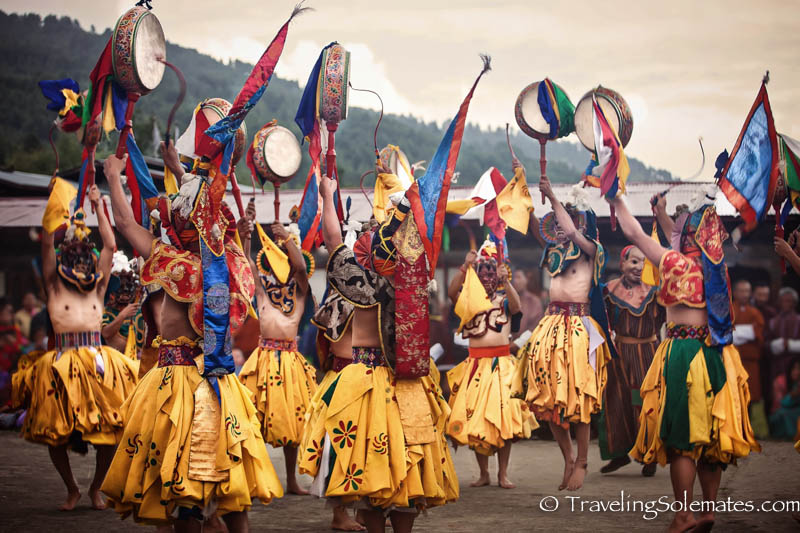Mask Dances in Tamshing Phala Chhoepa Festival at Tamshi Lhakhang