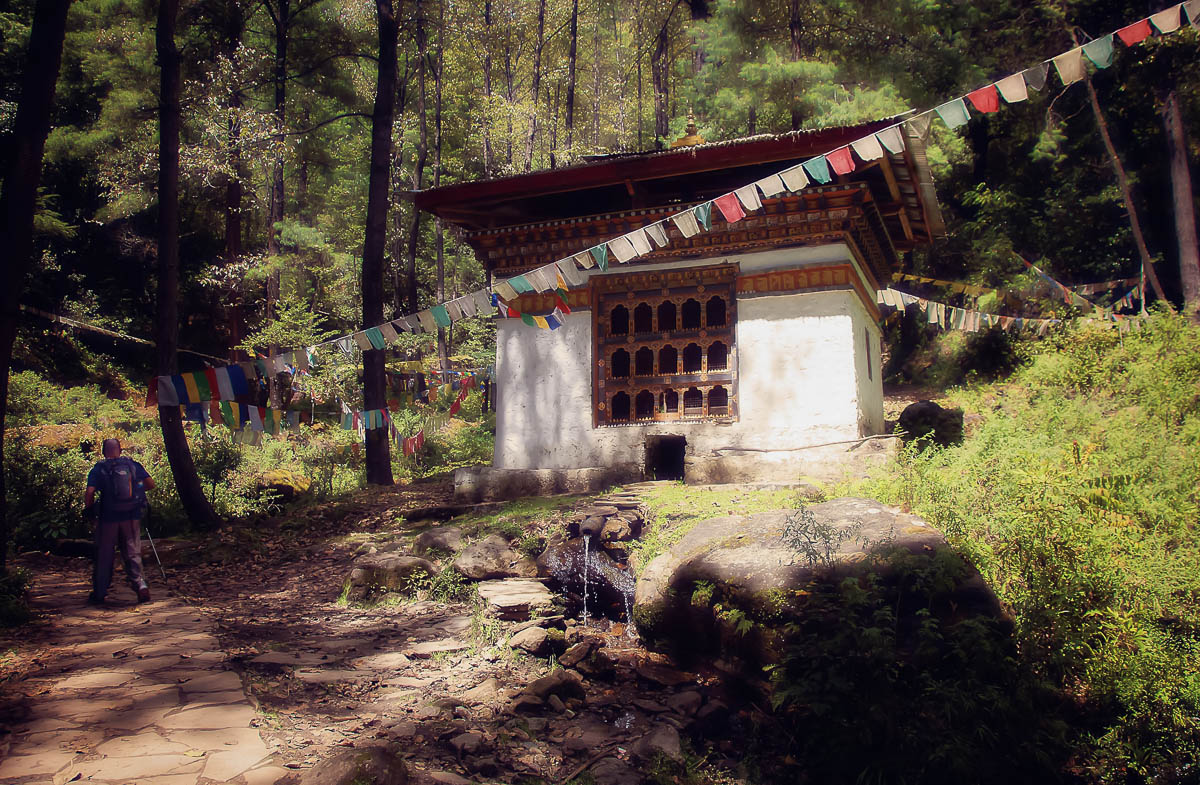 Chorten on the Hiking Trail to Tiger's Nest Monastery, Paro, Bhutan