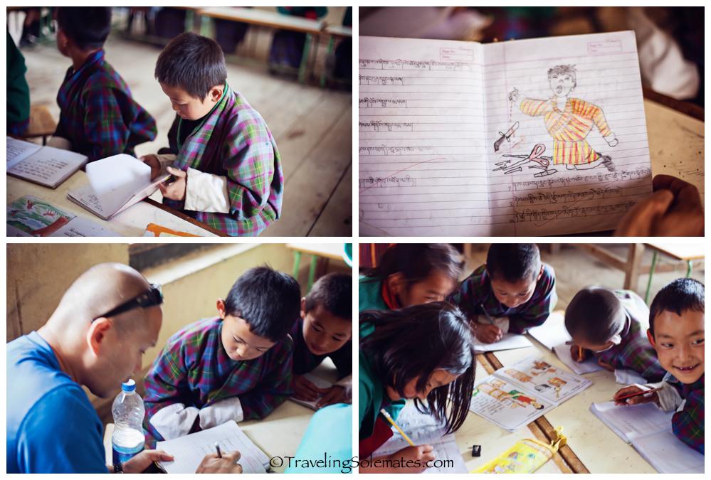 A school in Ura Valley, Bumthang, Bhutan