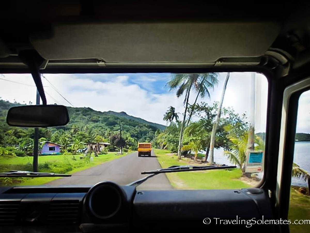 Road in Mainland Bora Bora