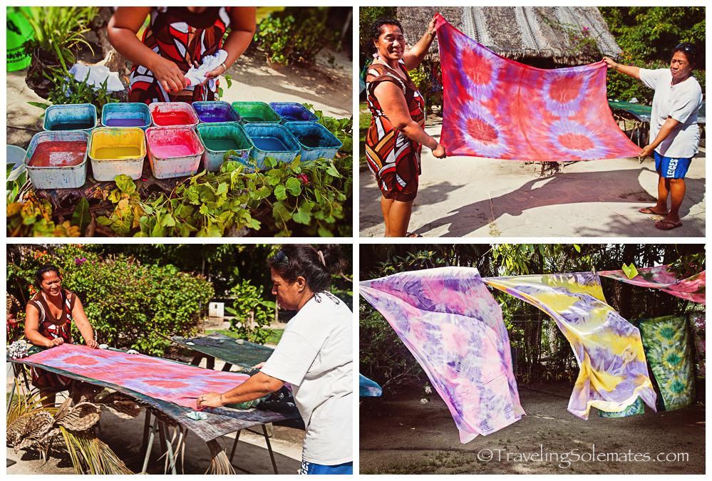 """""""Pareu"""" (Local Sarong) workshop, Bora Bora"""