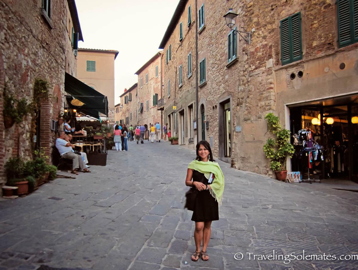 Street in Suvereto, Etruscan Coast, Tuscany, Italy