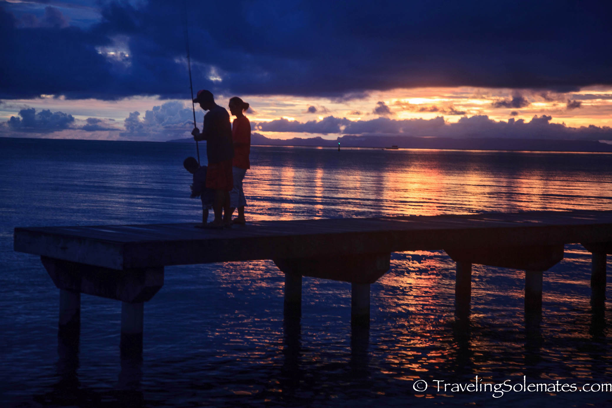 Sunset in Huahine, French Polynesia, Sotuh Pacifc