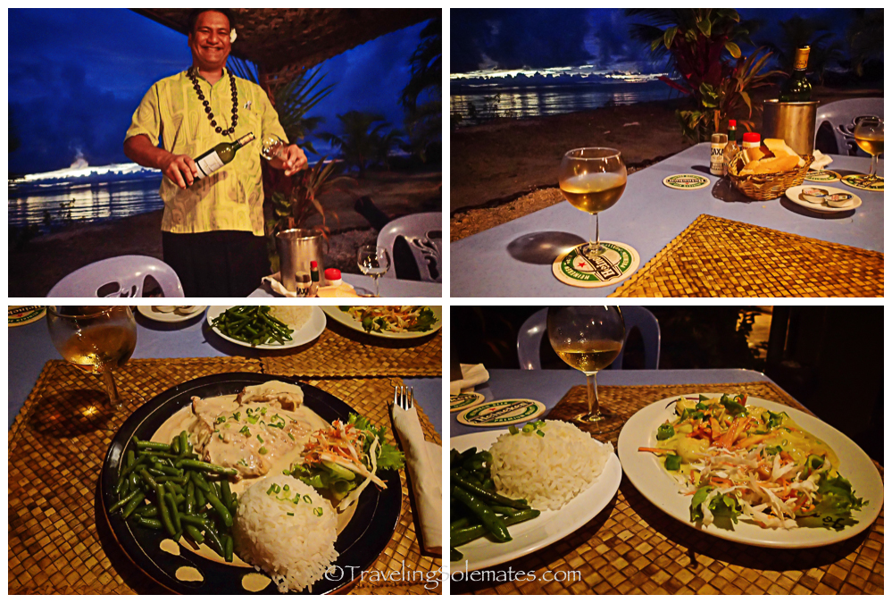 Sunset dinner in Huahine Yatch Club, Huahine, French Polynesia, South Pacific