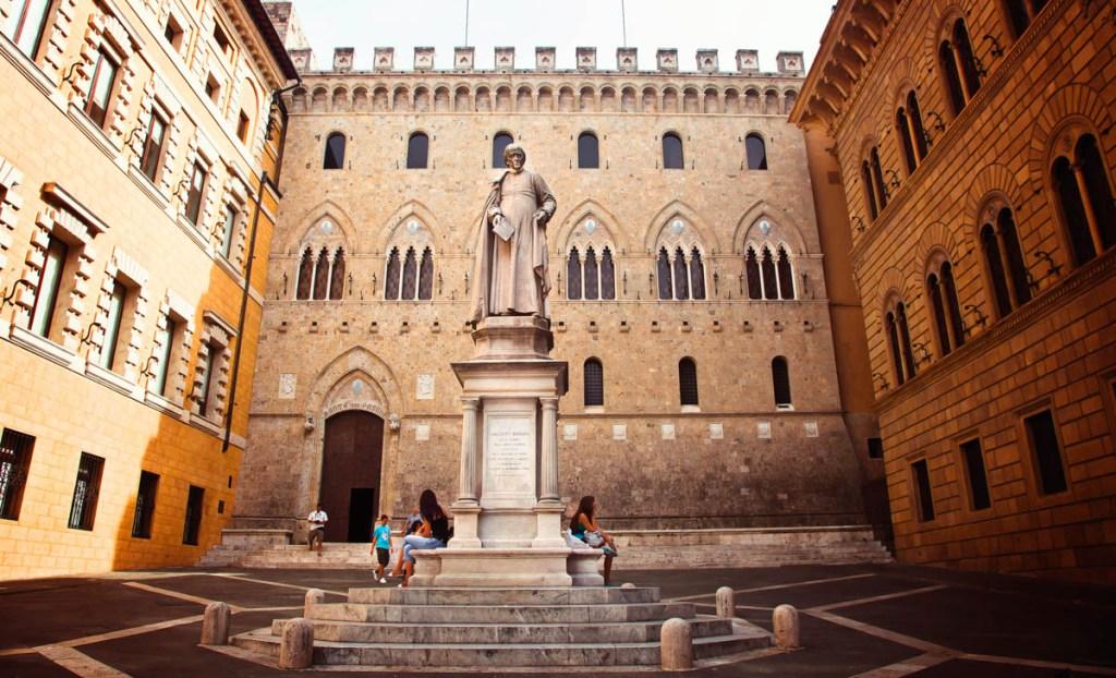 Monte dei Paschi, Siena, Tuscany, Italy