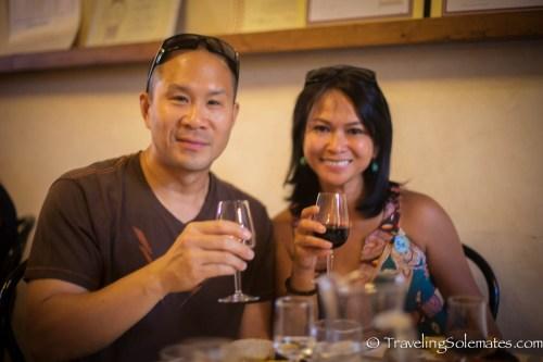 Wine tasting in Castello di Querceto Winery, Greve in Chianti, Tuscany, Italy