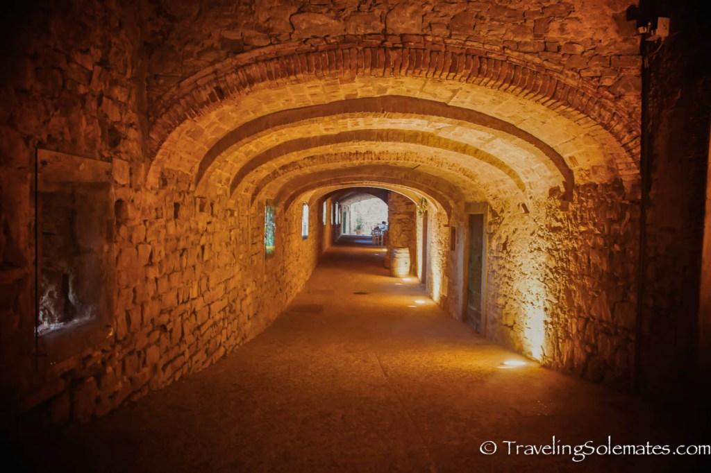 Via della Volte , Tunnel in Castellina in Chianti, Italy
