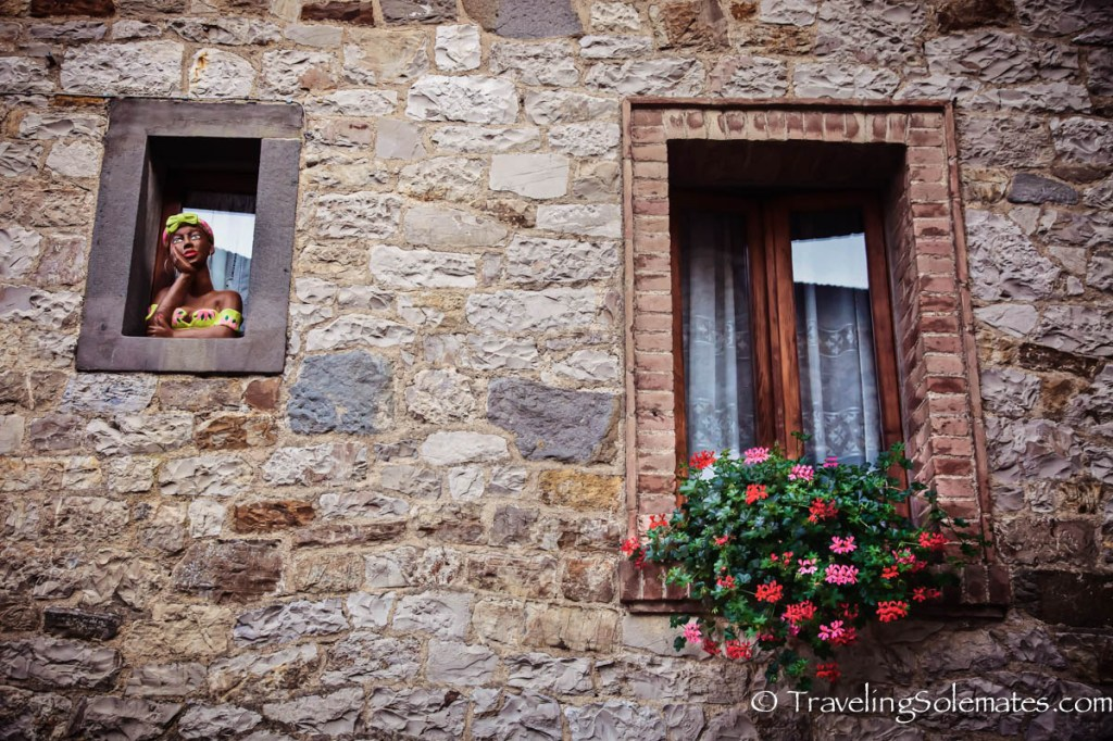 Builidng facade in in Castellina in Chianti, Tuscany, Italy
