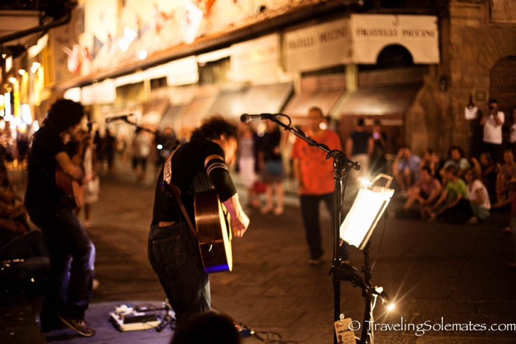 Musicians on Ponte Vecchio, Florence, Italy
