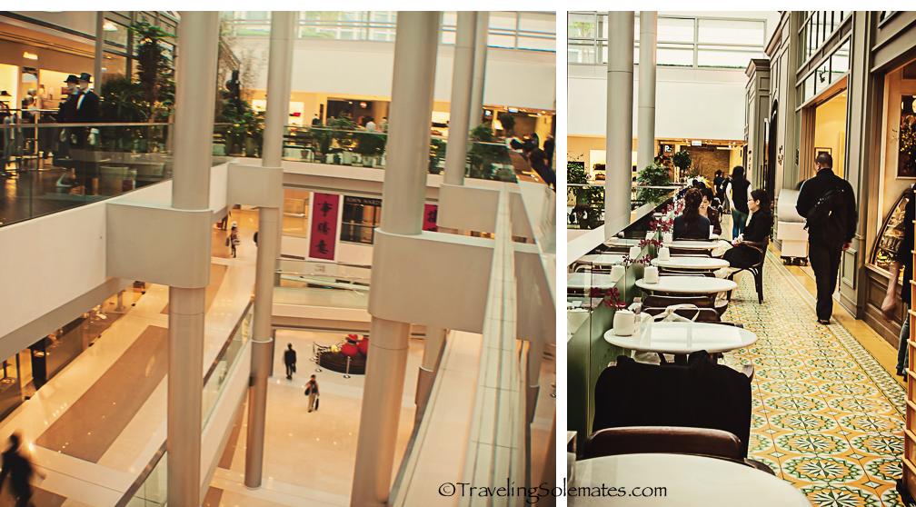 Modern Shopping Mall in Hong Kong