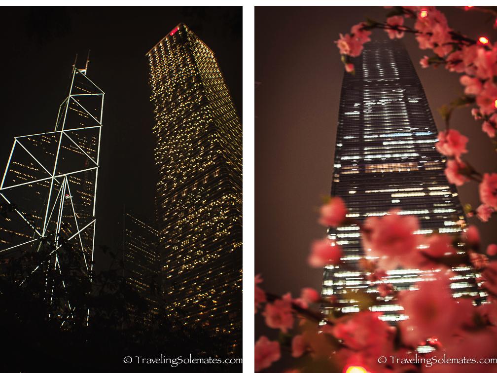 Hong Kong Skycrapers at night