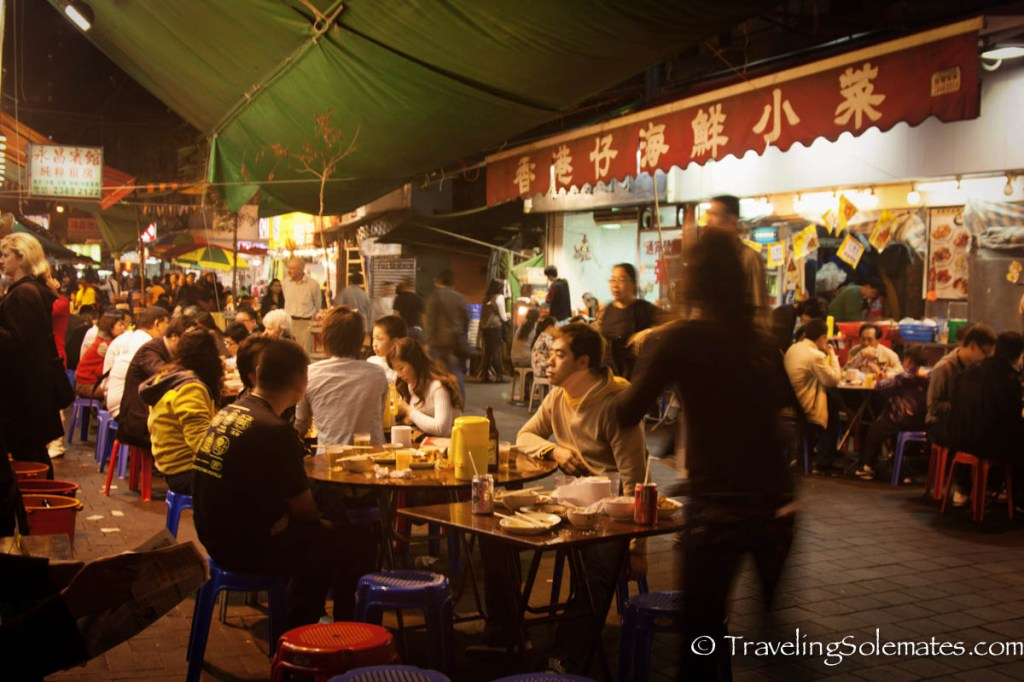 -Food Stalls in Temple Street, Hong Kong