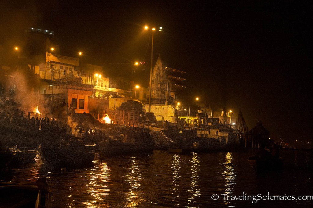 Ganges River at Night, Varanasi, India