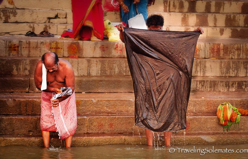 Men bathing in Ganges River, Varanasi India