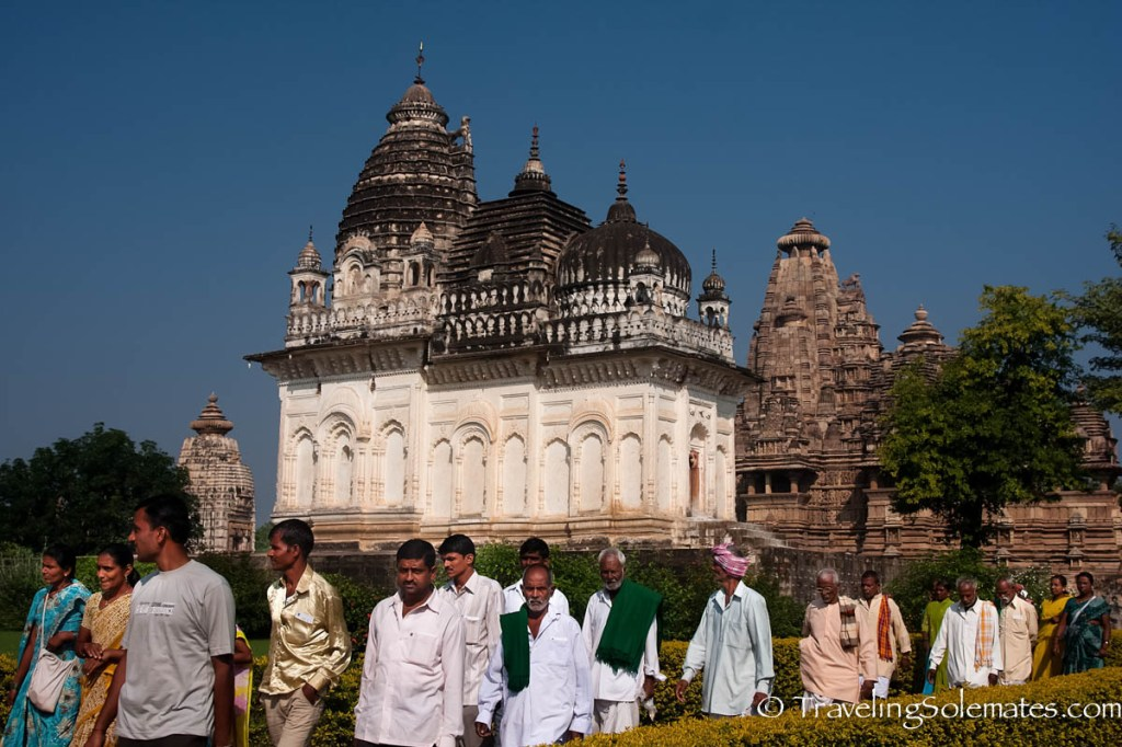 Locals walking by Parvati Temple