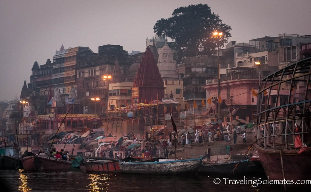 Early morning in the ghats of the Ganges River, Varanasi India