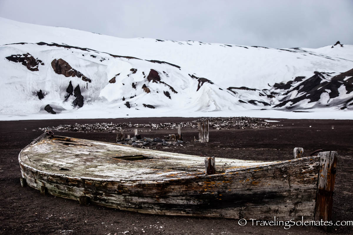 Old Whaler's Boat, Whaler's Bay, Deception Island, National Geographic Explorer, Antarctica Expedition, Lindblad Expeditions