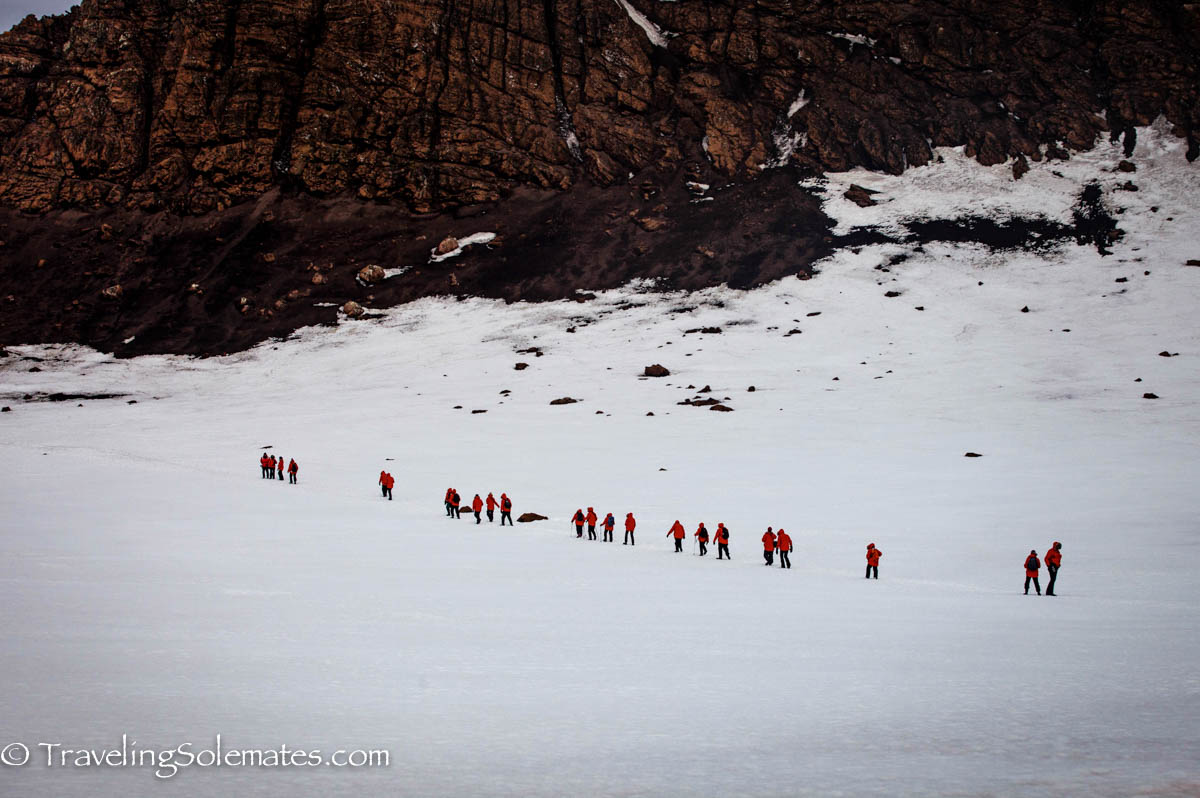 People Hiking in Deception Island, National Geographic Explorer, Antarctica Expedition, Lindblad Expeditions
