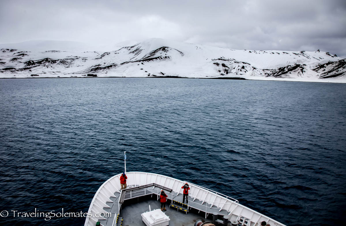Sailing into the Caldera of Deception Island, National Geographic Explorer, Antarctica Expedition