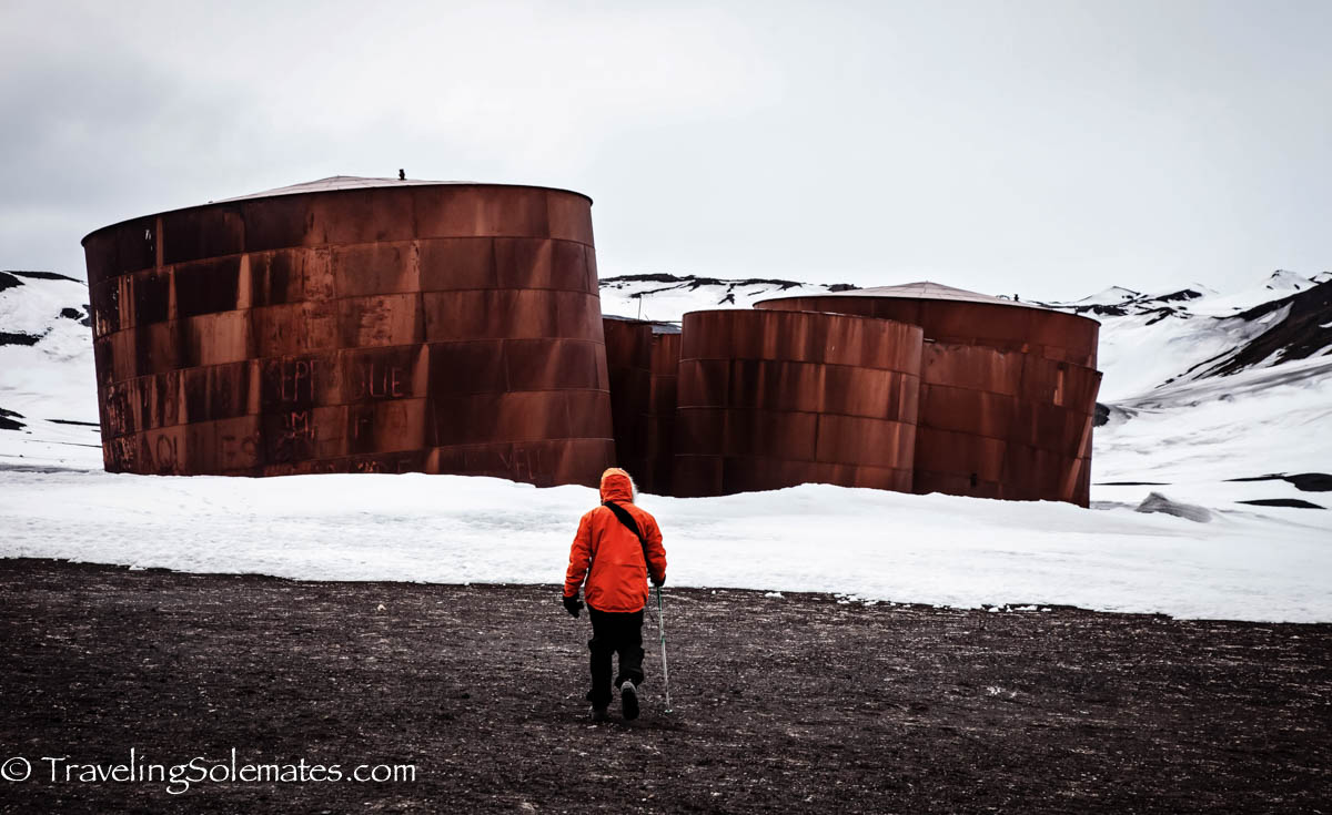 Whale Oil Silos.Tank, Deception Island, National Geographic Explorer, Antarctica Expedition