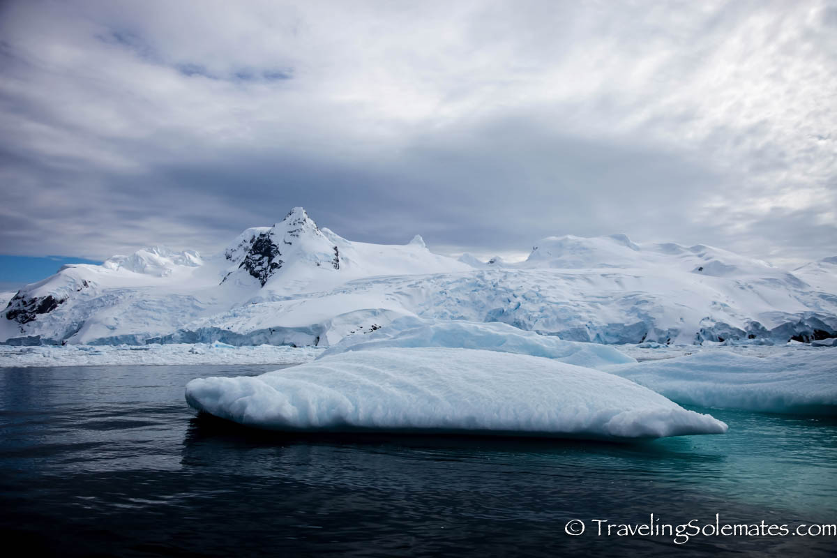 Icebergs and Ice covered mountains in Cierva Cove, Antartica, National Geographic Exploere, Lindblad Expeditions