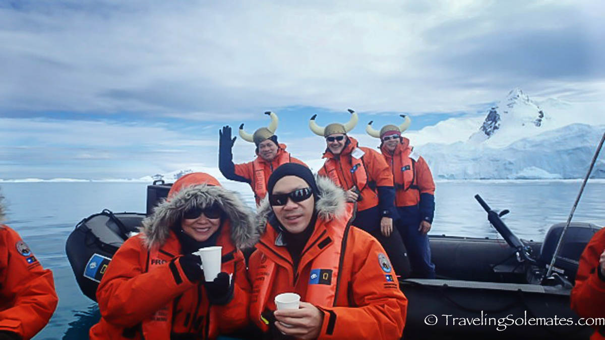 Hot Chocolate Boat by crew of National Geographic Explorer, Cierva Cove Antarctica Expedition, Lindblad Expeditions