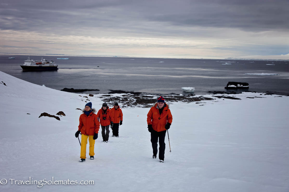Hiking in a glacier in Brown Bluff, Antartica, National Geographic Explorer, Lindblad Expeditions