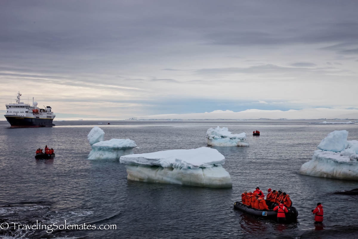 Landing in Brown Bluff, Antartica, National Geographic Explorer, Lindblad Expeditions