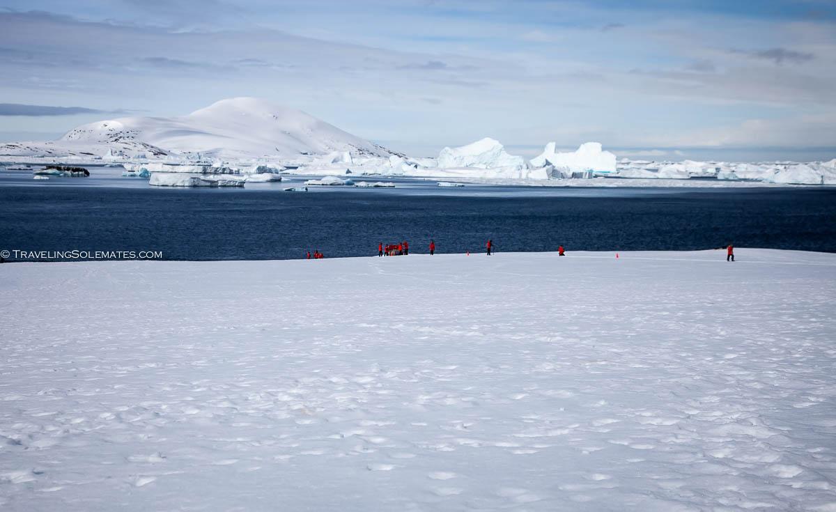 Landing in Booth Island, Antarctica