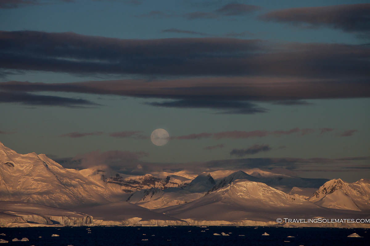 Full Moon Over Antarctica
