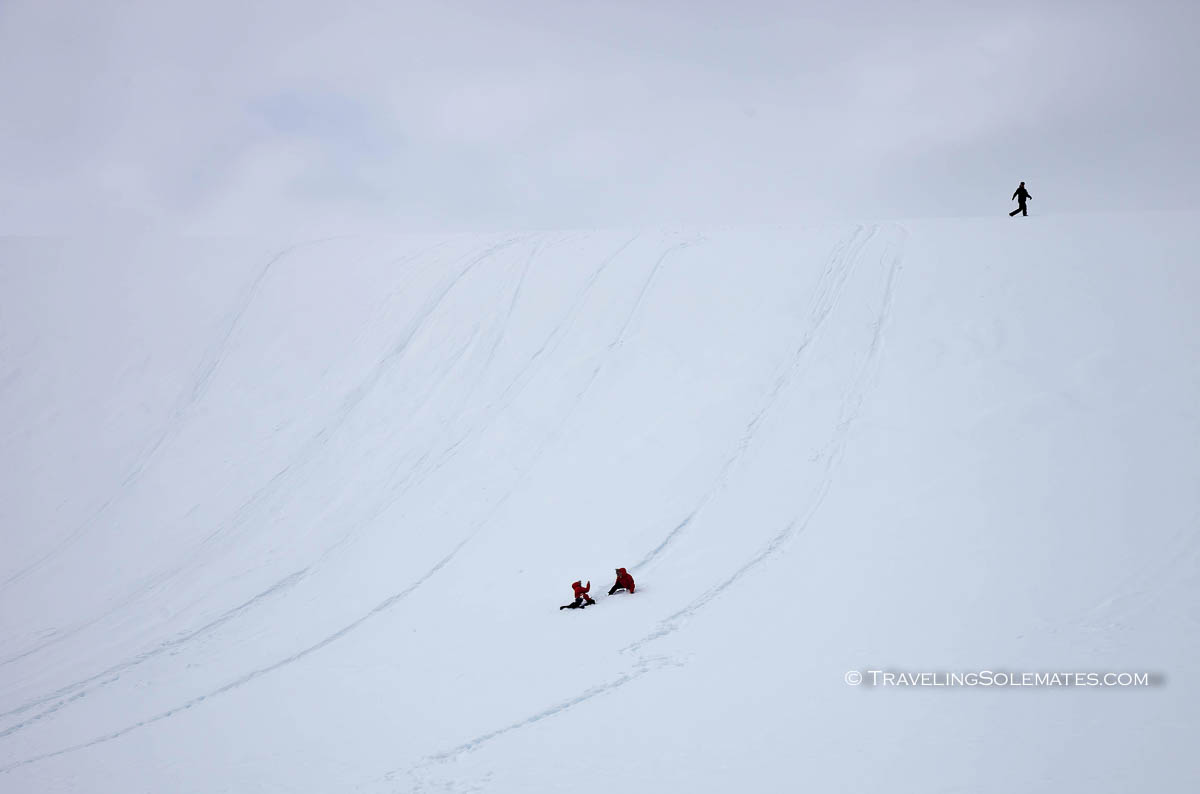 Hiking in Neko Harbor Mountains, Antarctica, National Geographic Explorer Lindblad Expeditions
