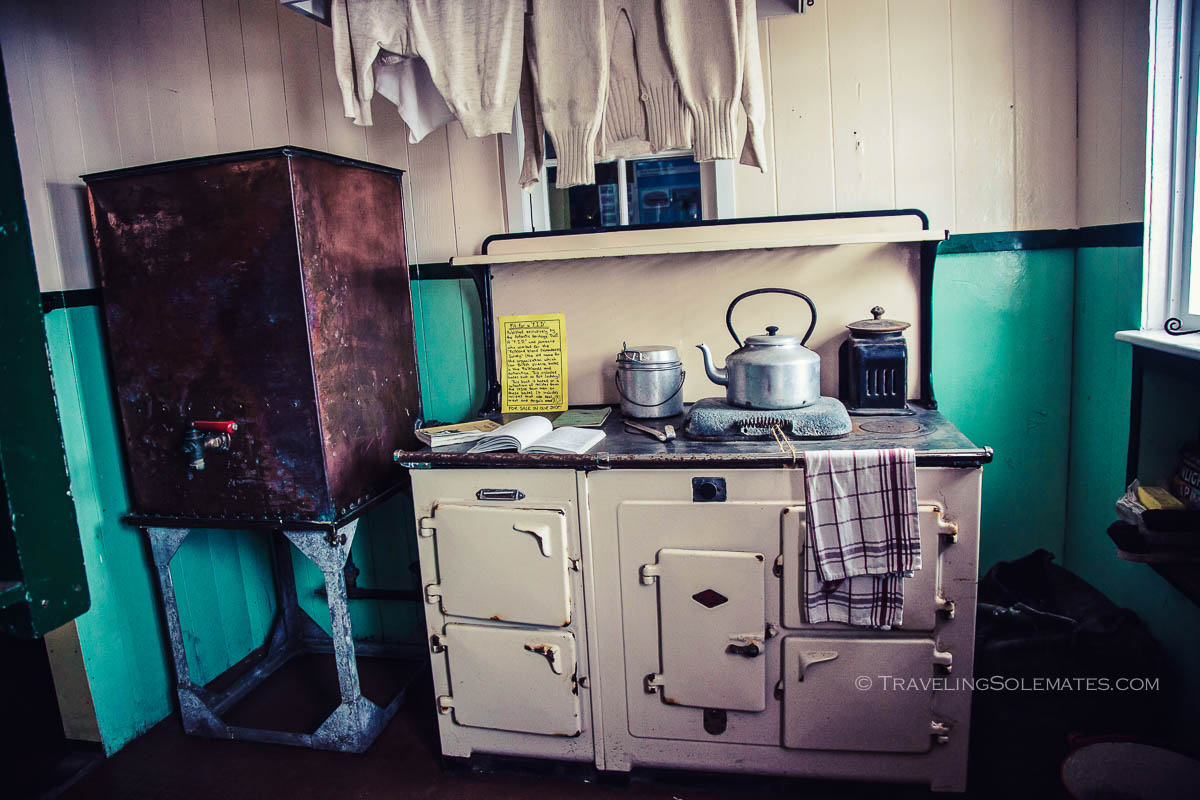 Kitchen in Bransfield House Museum, Port Lockroy, Britishh Base A, Antarctica, Natioanal Geographic Expeditions, Lindblad Expeditions